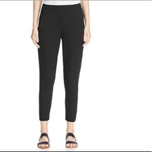 Eileen Fisher Black Slim Fit Stretch Ankle Pants